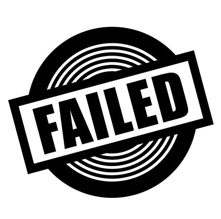 failed black stamp on white background
