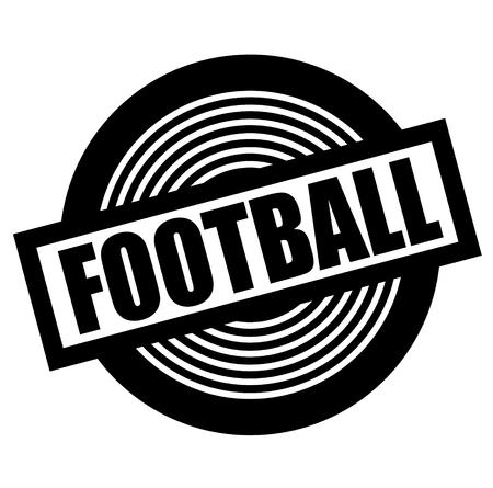 football black stamp on white background Illustration