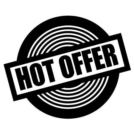 hot offer black stamp on white background