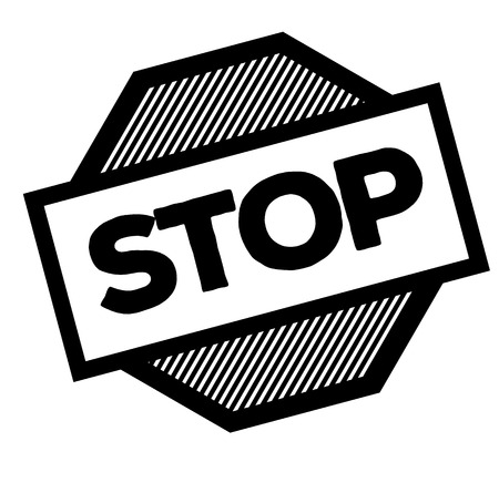 stop black stamp in italian language. Sign, label, sticker