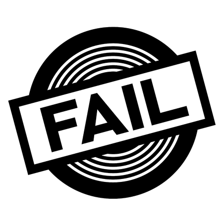 fail black stamp on white background, sign, label Ilustração