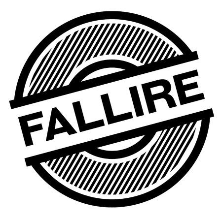 fail black stamp in italian language. Sign, label, sticker