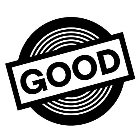 good black stamp on white background, sign, label