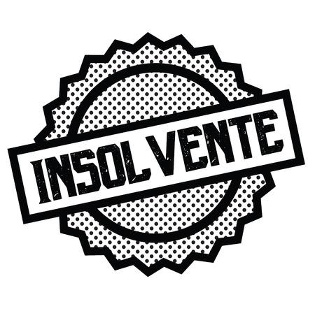 insolvent black stamp in italian language. Sign, label, sticker Иллюстрация