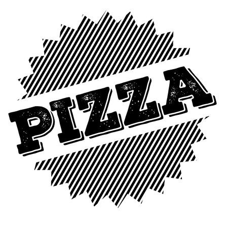 pizza black stamp Vetores