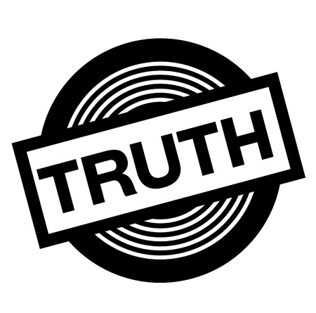 truth black stamp on white background, sign, label Illustration