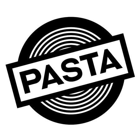 pasta black stamp on white background, sign, label