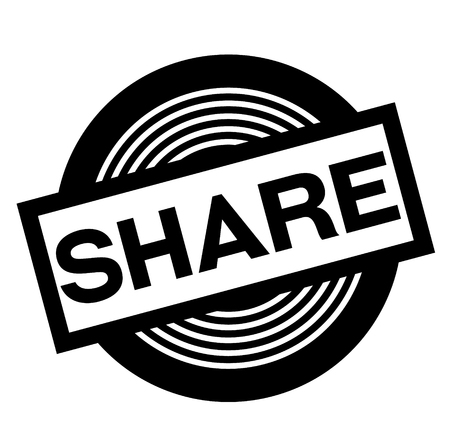 share black stamp on white background, sign, label