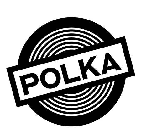 polka black stamp on white background, sign, label
