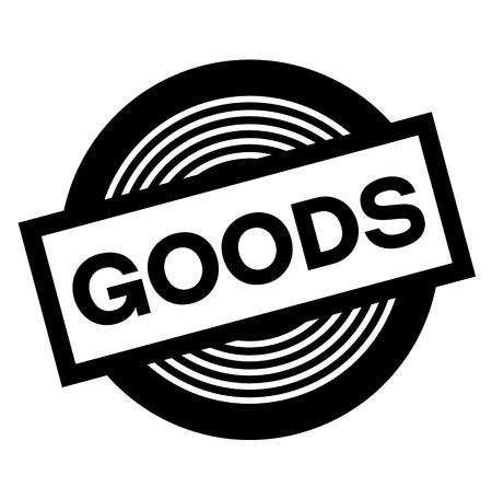 goods black stamp on white background, sign, label