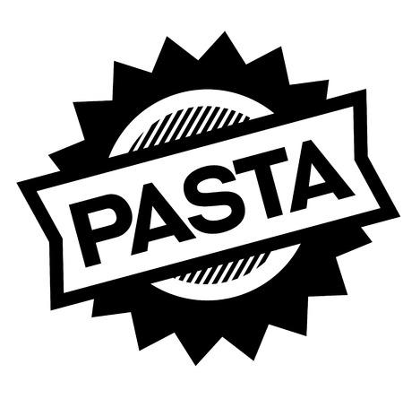 pasta black stamp in italian language. Sign, label, sticker