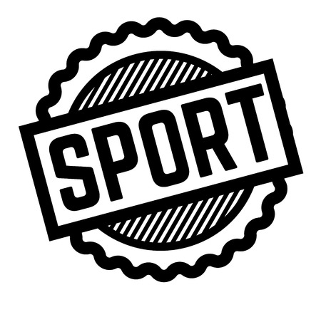 sport black stamp in italian language. Sign, label, sticker