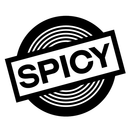spicy black stamp on white background, sign, label Illustration