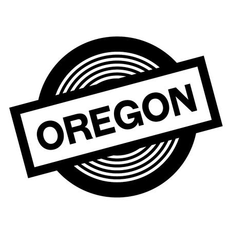 oregon black stamp on white background, sign, label