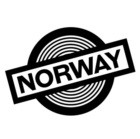 norway black stamp on white background, sign, label