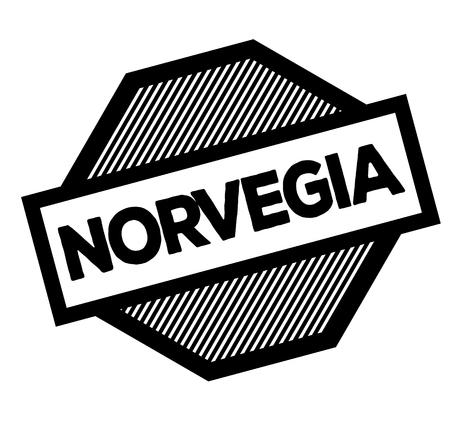 norway black stamp in italian language. Sign, label, sticker