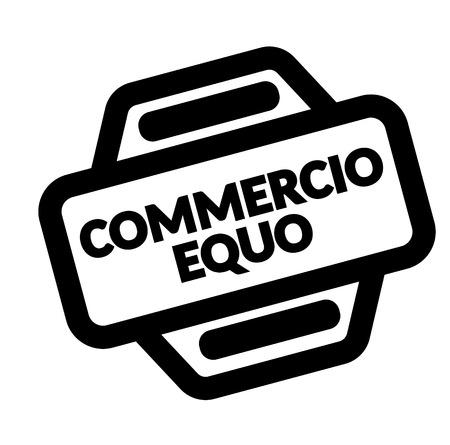 fair trade black stamp in italian language. Sign, label, sticker Illustration