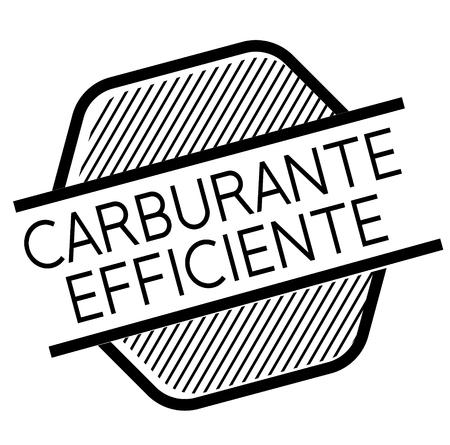 fuel efficient black stamp in italian language. Sign, label, sticker Çizim