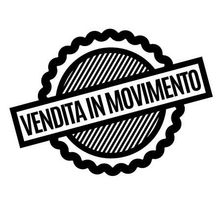 moving sale black stamp in italian language. Sign, label, sticker