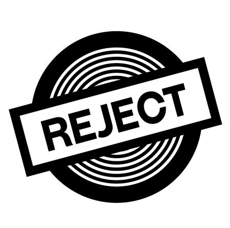 reject black stamp on white background, sign, label 矢量图像