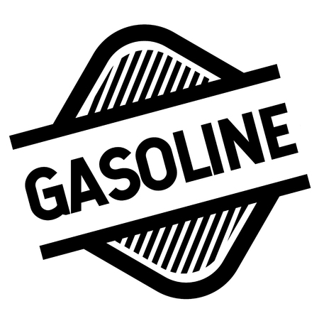 gasoline stamp on white background . Sign, label sticker Vettoriali