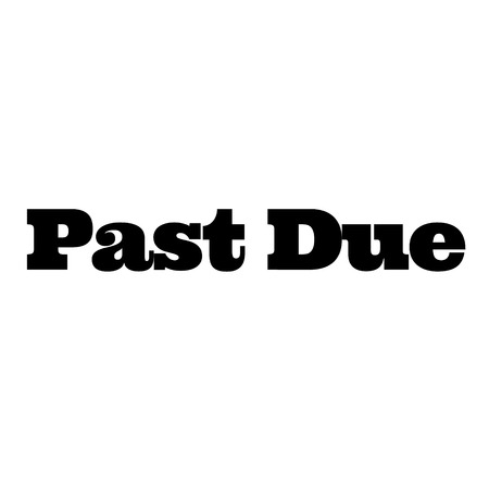 past due stamp on white