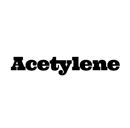 acetylene stamp on white Illustration
