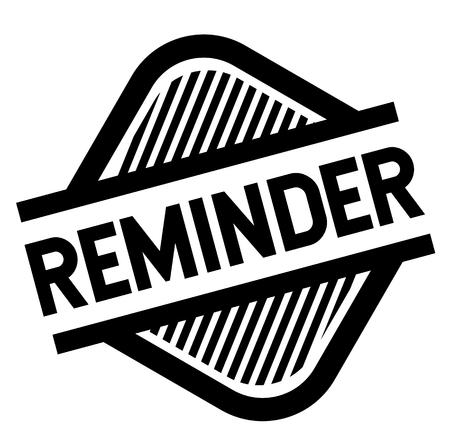 reminder stamp on white background . Sign, label sticker Stock Vector - 111846163