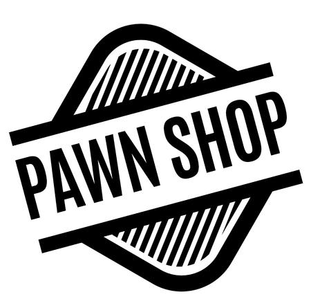 pawn shop stamp on white background . Sign, label, sticker