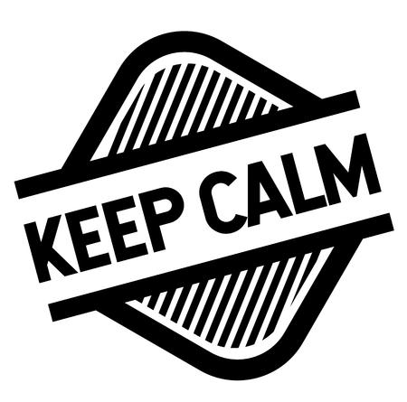 stamp keep calm Illustration