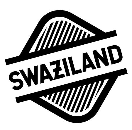 swaziland stamp on white background . Sign, label sticker Standard-Bild - 111846173