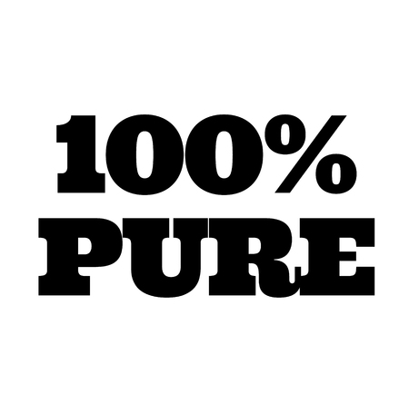 100 percent pure stamp on white Illustration