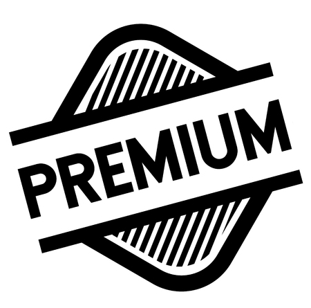 premium stamp on white background . Sign, label sticker