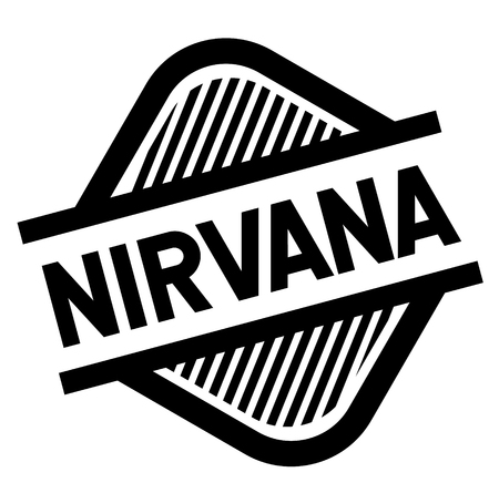 nirvana stamp on white background . Sign, label sticker