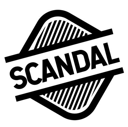 scandal stamp on white background . Sign, label sticker 일러스트