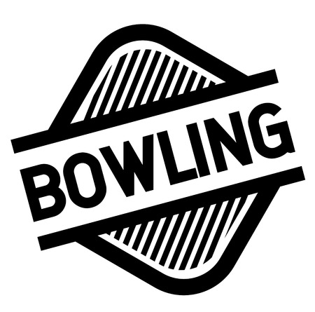 bowling stamp on white background . Sign, label sticker