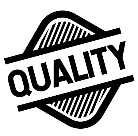 quality stamp on white background . Sign, label sticker