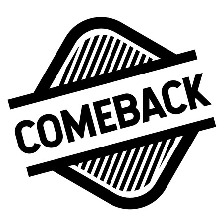comeback stamp on white Çizim