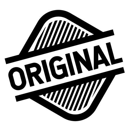 original stamp on white background . Sign, label sticker Ilustração