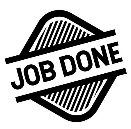 job done stamp on white background . Sign, label, sticker