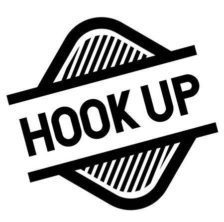 hook up stamp on white background . Sign, label, sticker