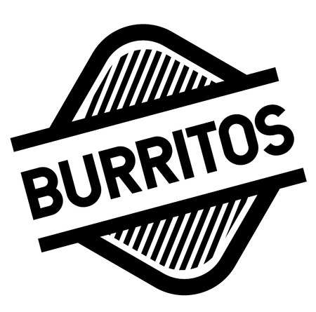 burritos stamp on white background . Sign, label sticker