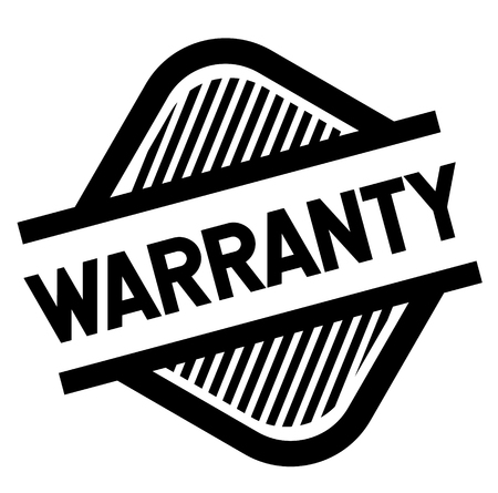 warranty stamp on white background . Sign, label sticker Stock Vector - 111848975