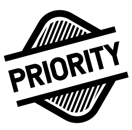 priority stamp on white