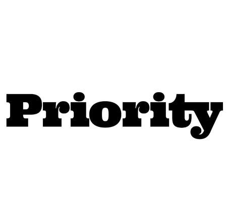 sello de prioridad en blanco