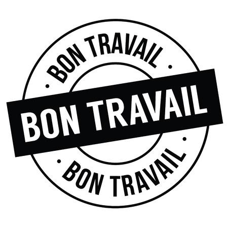good job black stamp in french language. Sign, label, sticker  イラスト・ベクター素材