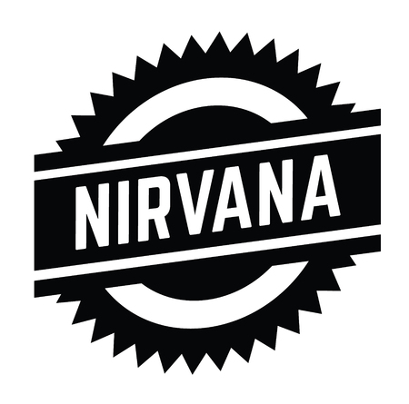 nirvana black stamp in french language. Sign, label, sticker