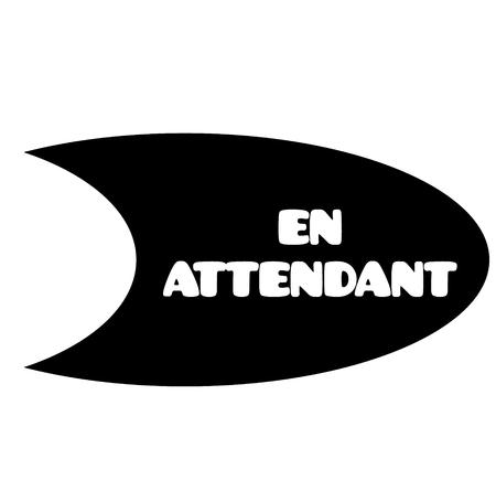 pendiente de sello negro en idioma francés. Signo, etiqueta, pegatina Ilustración de vector