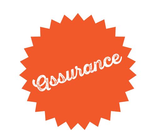 assurance stamp on white Illustration