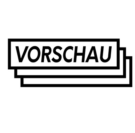 preview black stamp in german language. Sign, label, sticker Illustration